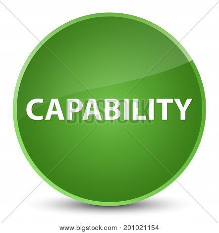 Capability Elegant Soft Green Round Button