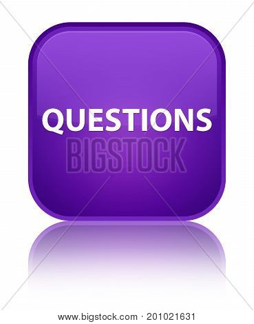 Questions Special Purple Square Button