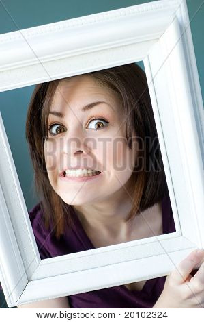 Goofy Framed Woman