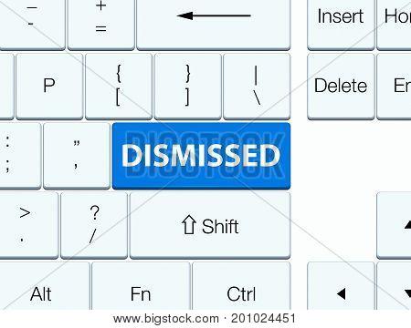 Dismissed Blue Keyboard Button