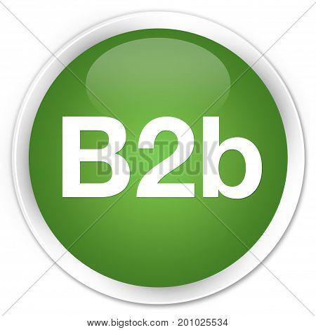 B2B Premium Soft Green Round Button
