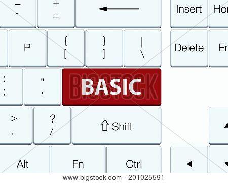 Basic Brown Keyboard Button