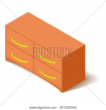 Office locker icon. Isometric illustration of office locker vector icon for web