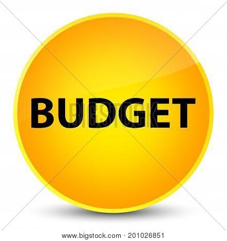 Budget Elegant Yellow Round Button