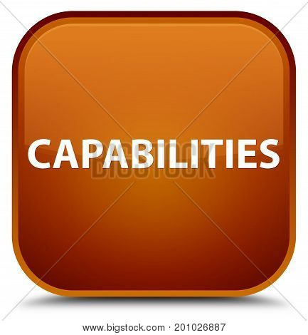 Capabilities Special Brown Square Button