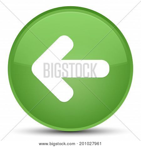 Back Arrow Icon Special Soft Green Round Button