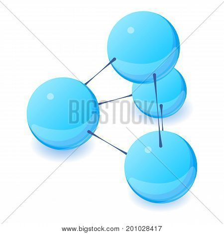 Interaction molecule icon. Isometric illustration of interaction molecule vector icon for web