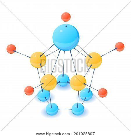 Unique molecule icon. Isometric illustration of unique molecule vector icon for web