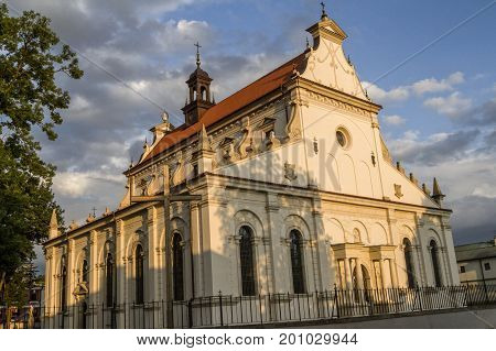 Zamosc - Renaissance city in Central Europe. The Cathedral of the Resurrection and St. Thomas the Apostle