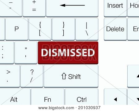 Dismissed Brown Keyboard Button