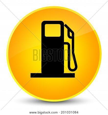 Fuel Dispenser Icon Elegant Yellow Round Button