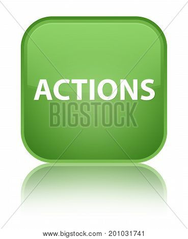Actions Special Soft Green Square Button