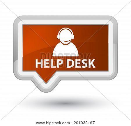 Help Desk (customer Care Icon) Prime Brown Banner Button