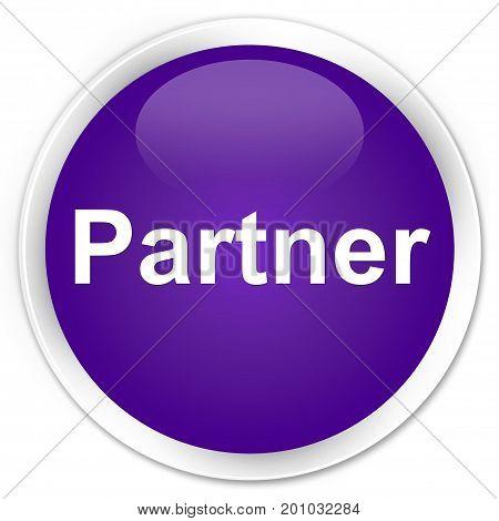 Partner Premium Purple Round Button