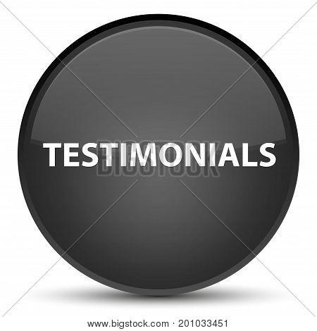 Testimonials Special Black Round Button