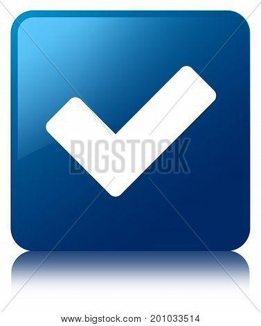 Validate Icon Blue Square Button