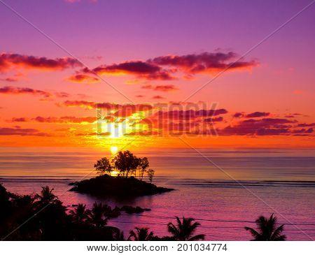 Seascape Island Nightfall