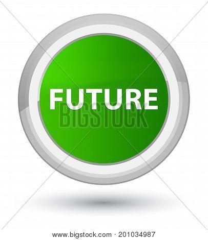 Future Prime Green Round Button