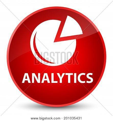 Analytics (graph Icon) Elegant Red Round Button