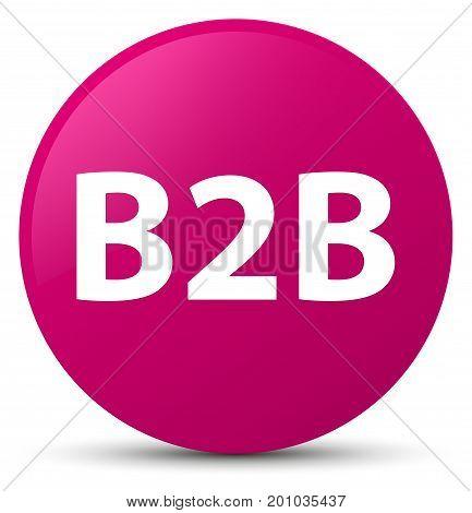 B2B Pink Round Button