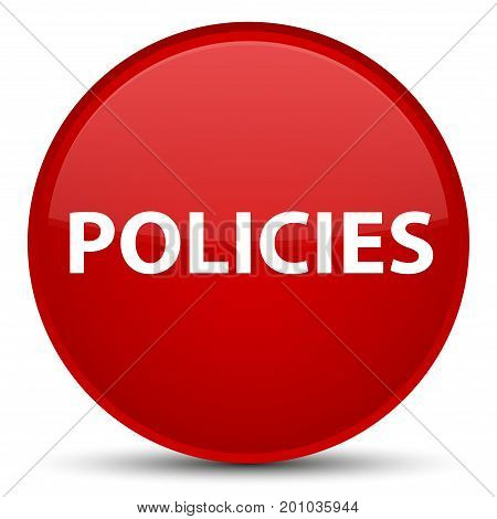 Policies Special Red Round Button