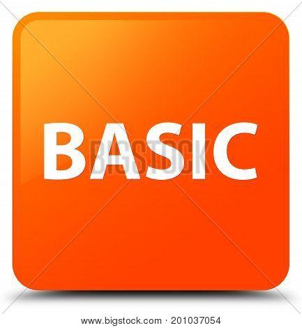 Basic Orange Square Button