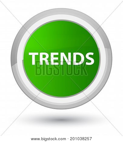 Trends Prime Green Round Button