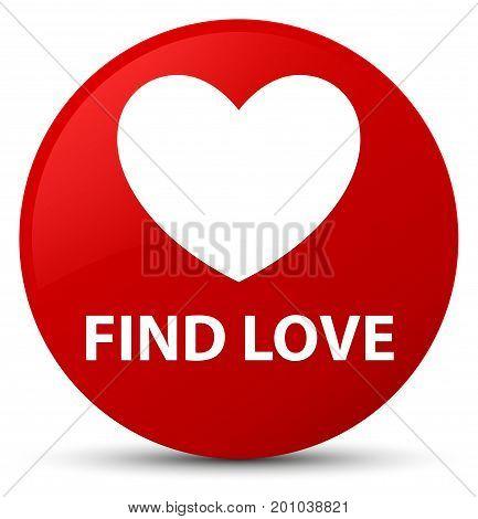Find Love Red Round Button