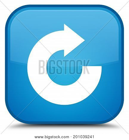 Reply Arrow Icon Special Cyan Blue Square Button