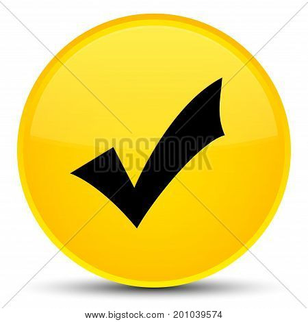 Validation Icon Special Yellow Round Button