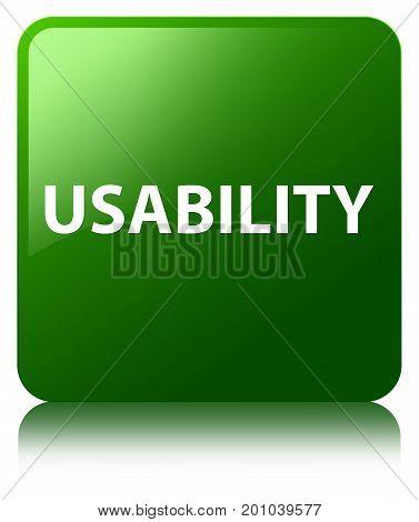 Usability Green Square Button