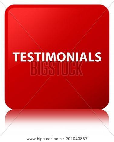 Testimonials Red Square Button