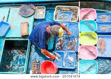 Floating Seafood Market In Sai Kung, Hong Kong