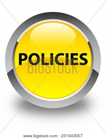Policies Glossy Yellow Round Button