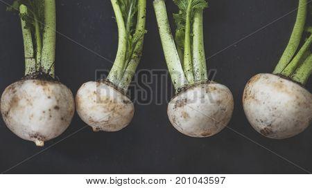 Raw nutrition fresh natural turnips