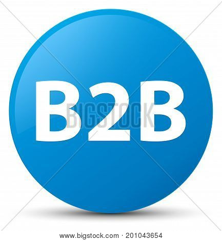 B2B Cyan Blue Round Button