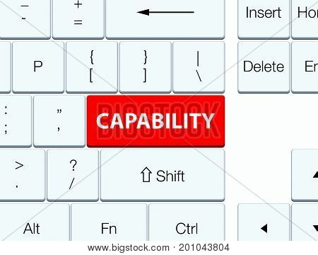 Capability Red Keyboard Button