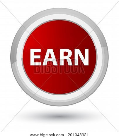 Earn Prime Red Round Button