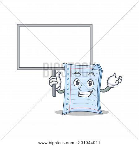 Bring board notebook character cartoon style vector illustration