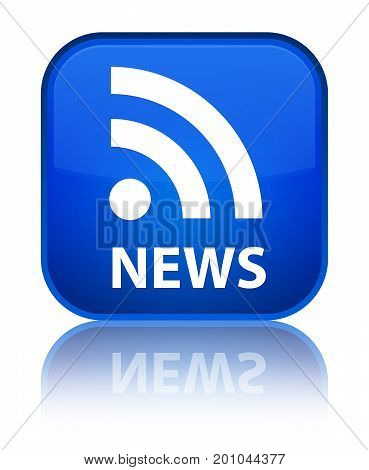 News (rss Icon) Special Blue Square Button