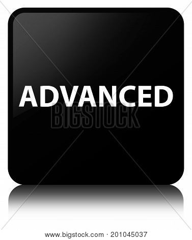 Advanced Black Square Button