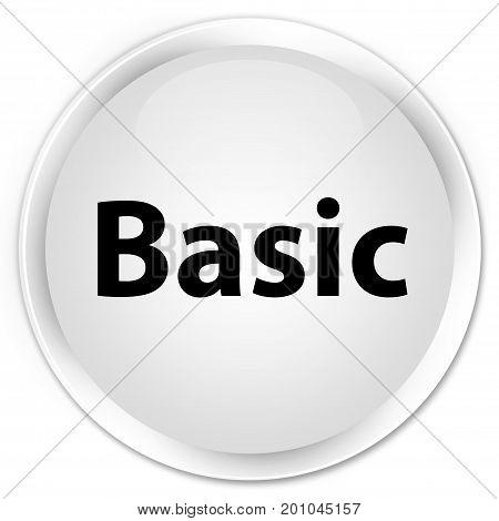 Basic Premium White Round Button
