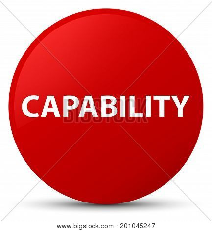 Capability Red Round Button