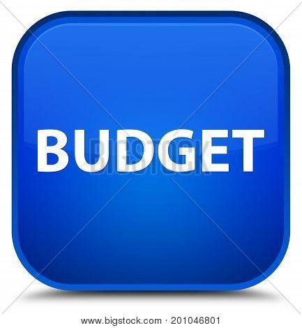 Budget Special Blue Square Button