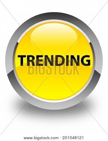 Trending Glossy Yellow Round Button