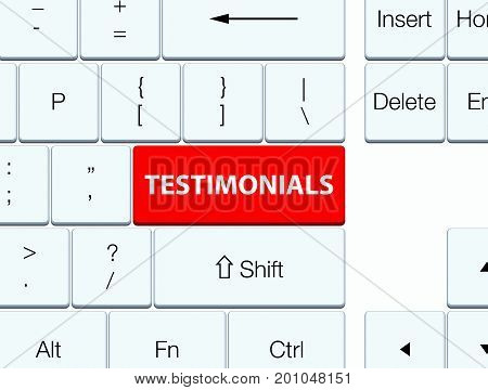 Testimonials Red Keyboard Button