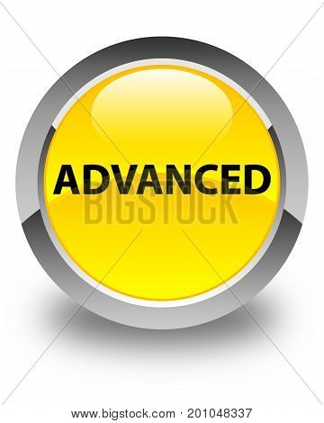 Advanced Glossy Yellow Round Button
