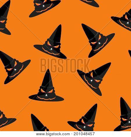Seamless Pattern Hat Orange