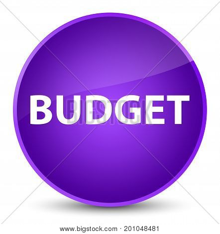 Budget Elegant Purple Round Button