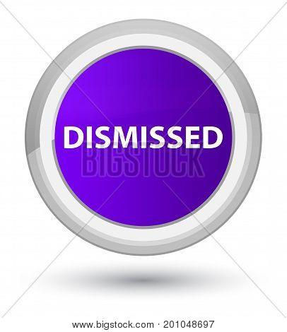 Dismissed Prime Purple Round Button